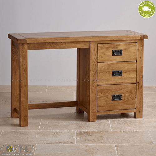 Bàn trang điểm Original Rustic gỗ sồi Mỹ- đẹp, giá rẻ tại hcm và hà nội