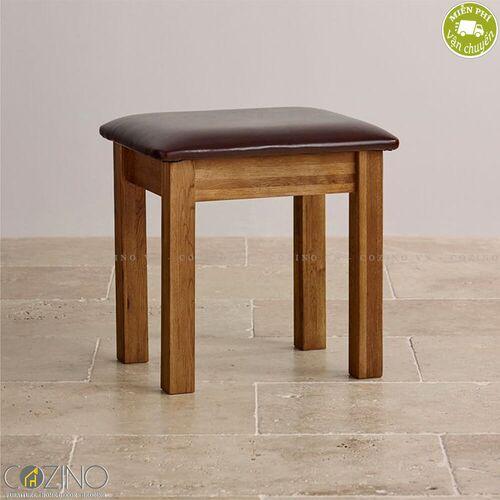 Ghế đôn bàn trang điểm French Farmhouse gỗ sồi Mỹ- đẹp, giá rẻ tại hcm và hà nội