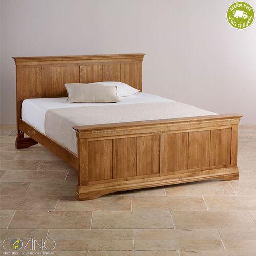 Giường French Farmhouse gỗ sồi- đẹp, giá rẻ tại hcm và hà nội