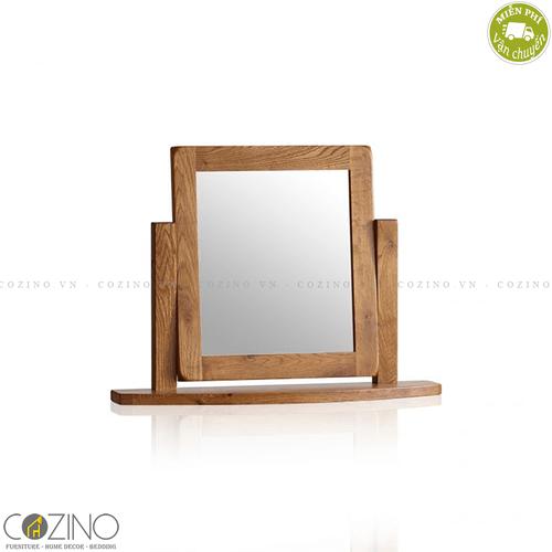 Gương để bàn Original Rustic gỗ sồi Mỹ- đẹp, giá rẻ tại hcm và hà nội