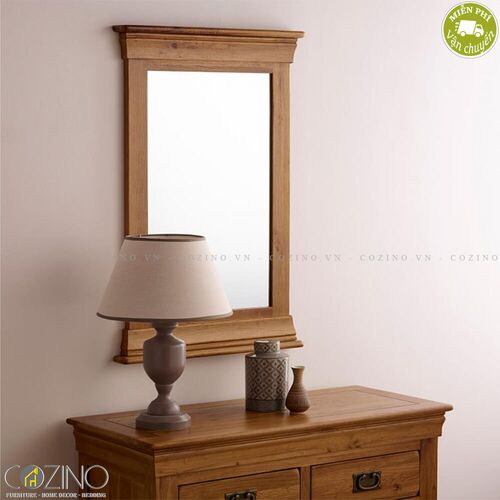 Gương treo tường French Farmhouse gỗ sồi Mỹ- đẹp, giá rẻ tại hcm và hà nội