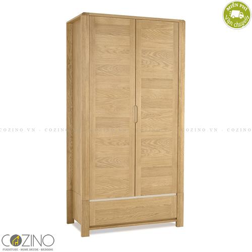 Tủ quần áo Chain 2 cánh 1 ngăn kéo gỗ sồi Mỹ (nhiều kích thước)- đẹp, giá rẻ tại hcm và hà nội