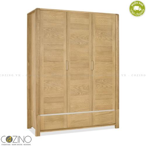 Tủ quần áo Chain 3 cánh 2 ngăn kéo gỗ sồi (nhiều kích thước)- đẹp, giá rẻ tại hcm và hà nội