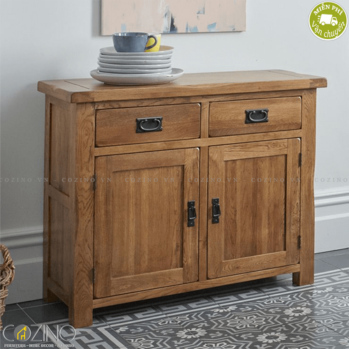 Tủ chén nhỏ Original Rustic gỗ sồi Mỹ1m- đẹp, giá rẻ tại hcm và hà nội