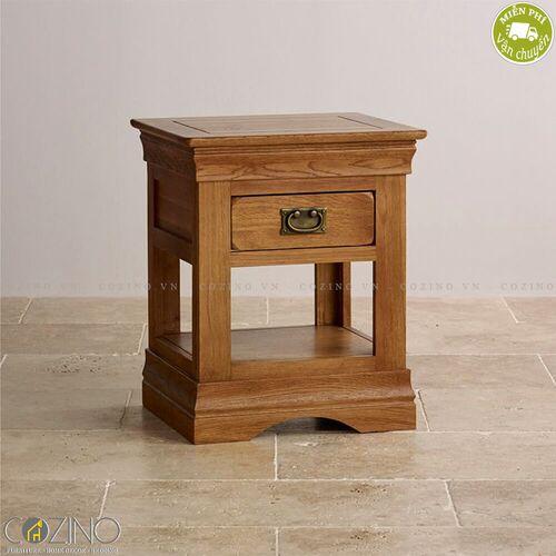 Tủ đầu giường French Farmhouse 1 ngăn gỗ sồi- đẹp, giá rẻ tại hcm và hà nội