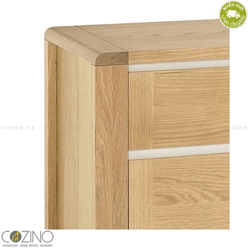 Tủ đầu giường 2 ngăn Chain gỗ sồi Mỹ- đẹp, giá rẻ tại hcm và hà nội