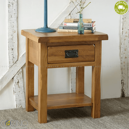 Tủ đầu giường Original Rustic 1 ngăn gỗ sồi mỹ- đẹp, giá rẻ tại hcm và hà nội