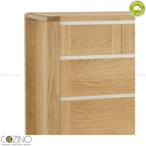 Tủ 5 ngăn kéo 4 tầng Chain gỗ sồi Mỹ- đẹp, giá rẻ tại hcm và hà nội