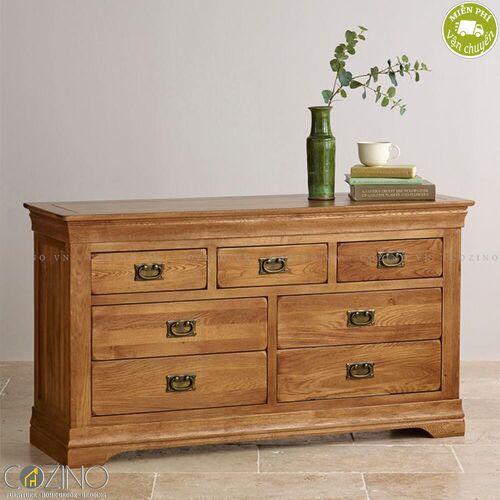 Tủ 7 ngăn kéo 3 tầng French Farmhouse gỗ sồi Mỹ- đẹp, giá rẻ tại hcm và hà nội