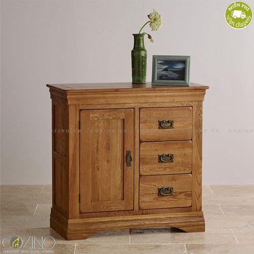 Tủ lưu trữ French Farmhouse gỗ sồi- đẹp, giá rẻ tại hcm và hà nội