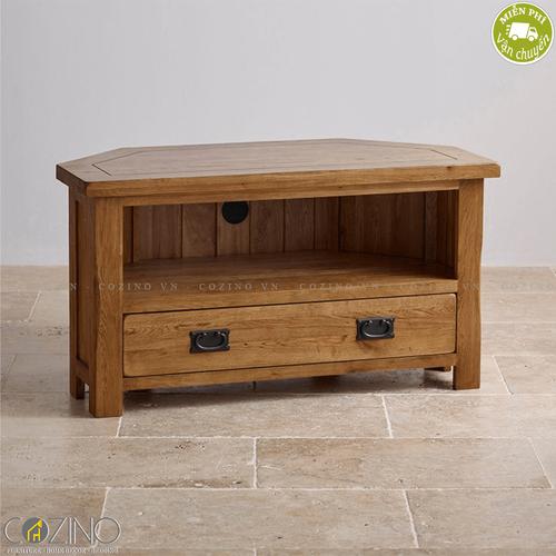 Tủ tivi góc Original Rustic gỗ sồi mỹ- đẹp, giá rẻ tại hcm và hà nội