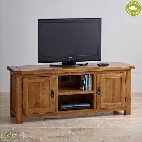 Tủ tivi Original Rustic lớn 1m4 gỗ sồi Mỹ- đẹp, giá rẻ tại hcm và hà nội