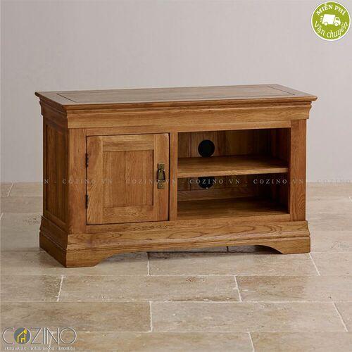 Tủ tivi French Farmhouse nhỏ 1m gỗ sồi Mỹ- đẹp, giá rẻ tại hcm và hà nội