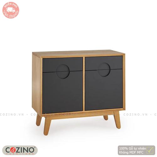 Tủ chén Spot 2 cánh 2 ngăn kéo gỗ sồi Mỹ- đẹp, giá rẻ tại hcm và hà nội