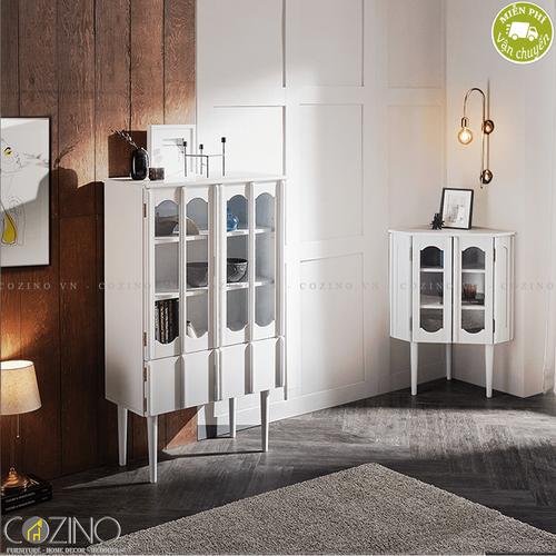 Tủ trưng bày 2 tầng Iris - Màu trắng- đẹp, giá rẻ tại hcm và hà nội