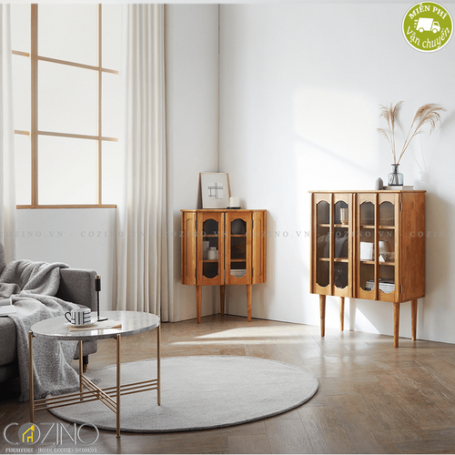 Tủ trưng bày 1 tầng Iris màu trắng- đẹp, giá rẻ tại hcm và hà nội