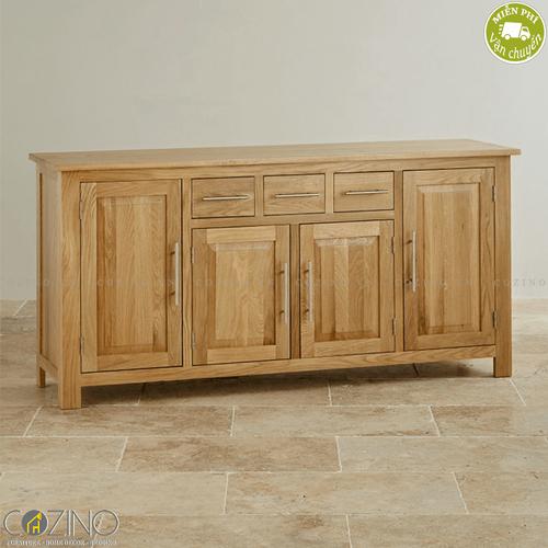 Tủ chén lớn Kintai gỗ sồi Mỹ 1m4- đẹp, giá rẻ tại hcm và hà nội