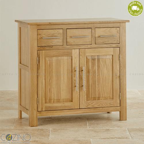 Tủ chén nhỏ Kintai gỗ sồi Mỹ 1m- đẹp, giá rẻ tại hcm và hà nội