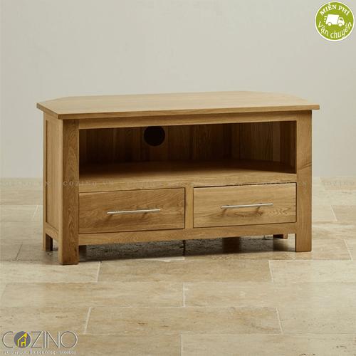 Tủ tivi góc Kintai gỗ sồi- đẹp, giá rẻ tại hcm và hà nội