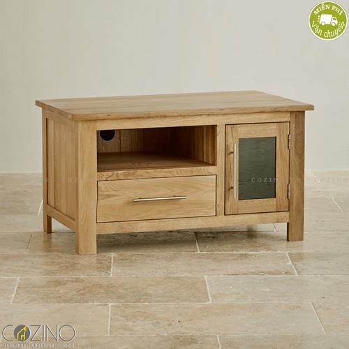 Tủ tivi nhỏ Kintai gỗ sồi- đẹp, giá rẻ tại hcm và hà nội